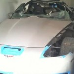 Hinson Motorsports Turbo Corvette crashed while traveling over 230 mph