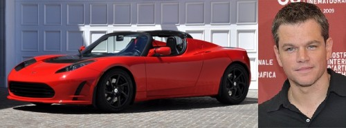 Matt Damon - Tesla Roadster