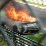 Honda NSX prototype burns in Nurburgring